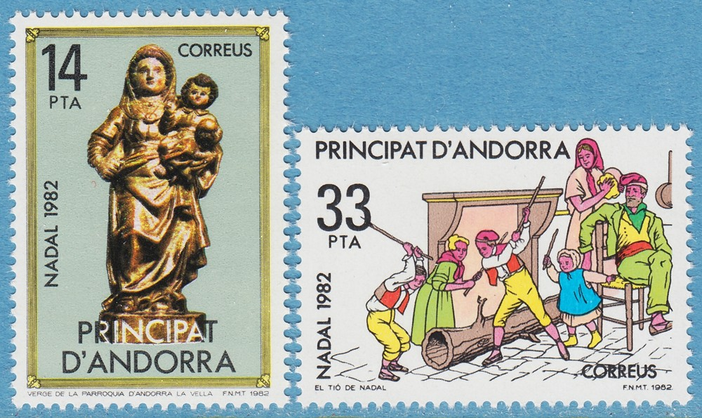 ANDORRA (SP) 1982 M163-4** jul 2 kpl