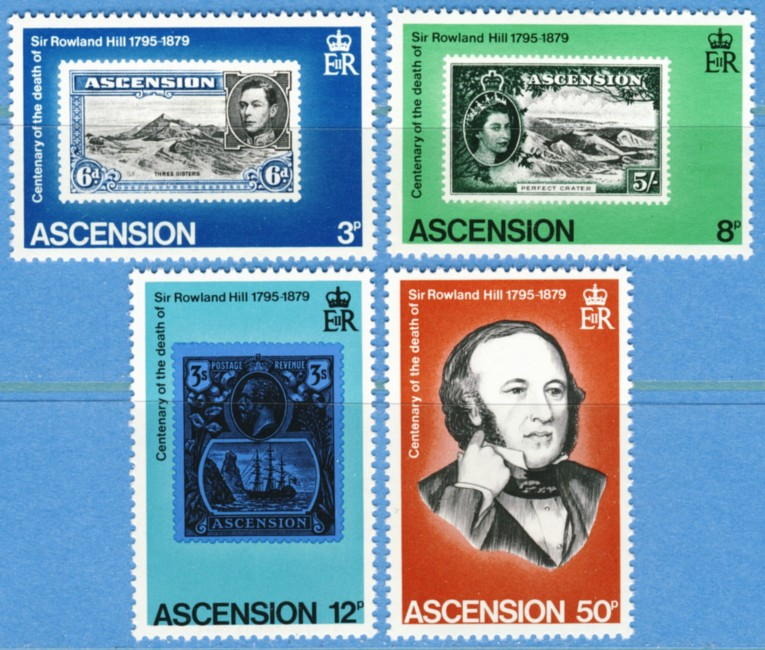 ASCENSION 1979 M249-52** Rowland Hill 4 kpl