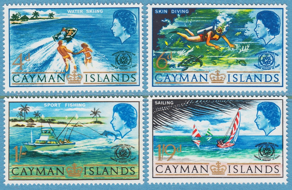 CAYMAN ISLANDS 1967 M194-7** turism 4 kpl