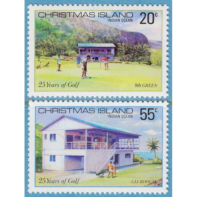 CHRISTMAS ISLAND 1980 M122-3** golf 2 kpl