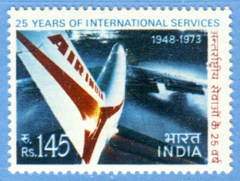 INDIEN 1973 M566** Air India 1 kpl