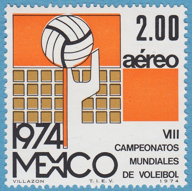 MEXICO 1974 M1431** volleyboll 1 kpl